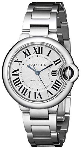 Cartier Ballon Bleu De Cartier Damen Armbanduhr 33mm Armband Edelstahl Gehaeuse Automatik W6920071