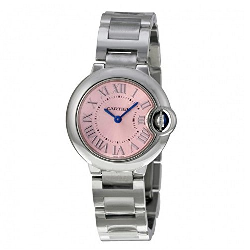Cartier Ballon Bleu De Cartier 28mm Armband Edelstahl Gehaeuse Batterie Analog W6920038