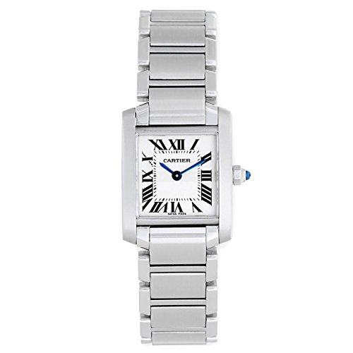 Cartier Tank Francaise Stainless Steel Womens Watch W51008Q3