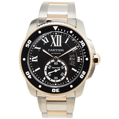 Cartier Calibre De Cartier Diver Herren Armbanduhr Armband Edelstahl Gehaeuse Automatik Analog W7100054