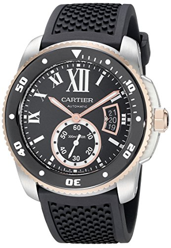 Cartier Calibre De Cartier Diver 42mm Armband Kautschuk Schwarz Automatik W7100055