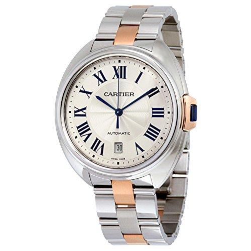 Cartier Cle de Cartier Herren Armbanduhr 40mm Armband Zweifaerbiger Edelstahl Zwei Ton Automatik W2CL0002