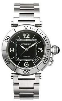 Cartier Herren-Armbanduhr Analog Automatik edelstahl Grau W31077M7