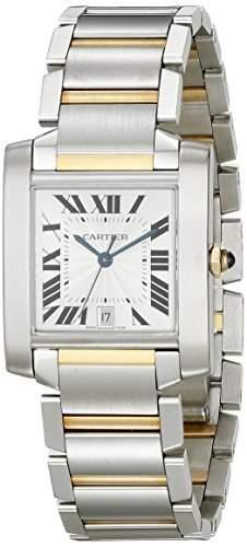 Cartier Herren W51005Q4 Tank Francaise Automatik Edelstahl und 18 Karat Gold Watch