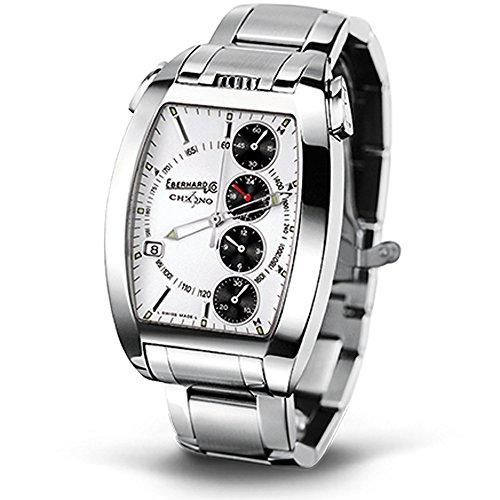 Eberhard Co Chrono 4 Temerario Uhr Armbanduhr Automatik Edelstahl NEU