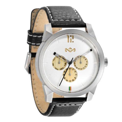 House of Marley Unisex Armbanduhr Chronograph Quarz Uhr WM FA005 IO Billet Leather IRON