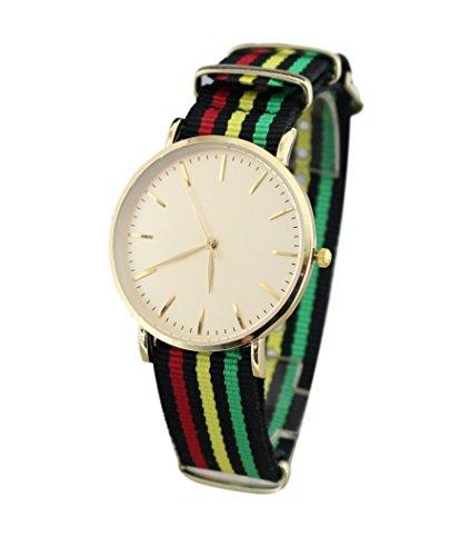 Armbanduhr Stoffarmband Rasta Reggae Jamaika