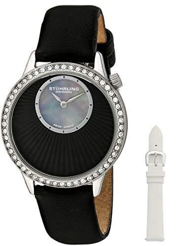 Stuhrling Original Damen-Armbanduhr Radiant Analog Quarz Leder 33612151Set