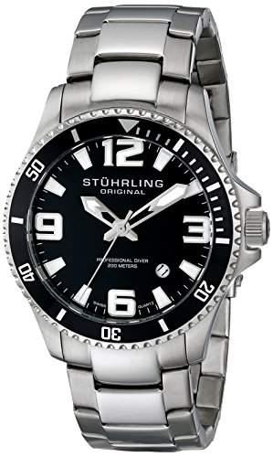 Stuhrling Original Herren-Armbanduhr Analog Quarz Edelstahl 39533B11