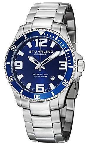 Stuhrling Original Herren-Armbanduhr 39533U16 Analog Quarz