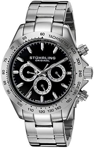 Stuhrling Original Herren-Armbanduhr Octane Raceway Analog Quarz Edelstahl 56402