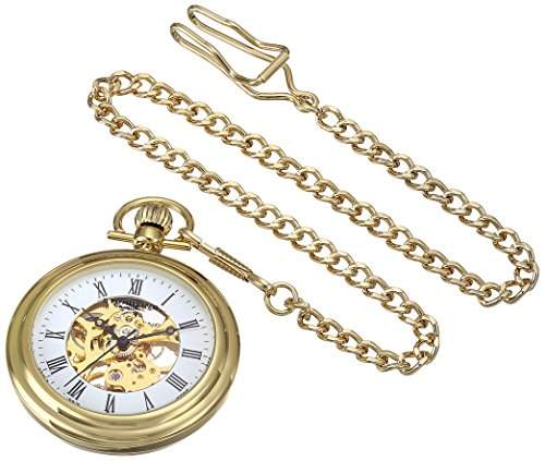 Stuhrling Original Unisex-Armbanduhr Special Reserve Montres de Poche Vintage Analog Gold 605333333