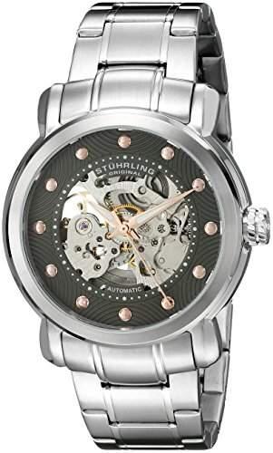 Stuhrling Original Herren-Armbanduhr Legacy 644 Analog Automatik Edelstahl 64403
