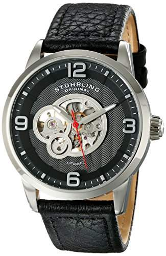 Stuhrling Original Herren-Armbanduhr Analog Automatik Leder 64802