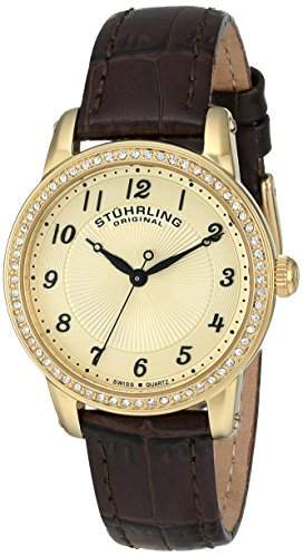 Stuhrling Original Damen-Armbanduhr Symphony 651 Analog Quarz Leder 65102