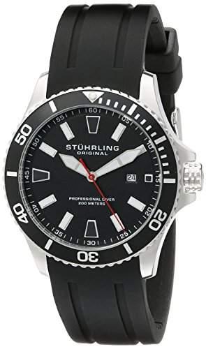 Stuhrling Original Herren-Armbanduhr Analog Quarz Silikon 70601