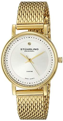 Stuhrling Original Damen-Armbanduhr Analog Quarz Edelstahl 734LM04