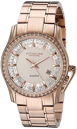 Stuhrling Original Damen-Armbanduhr Calliope Analog Quarz Edelstahl 91003
