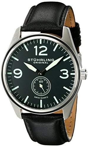 Stuhrling Original Herren-Armbanduhr Analog Quarz Leder 93103