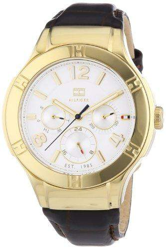 Tommy Hilfiger Damen-Armbanduhr Sport Luxery Analog Quarz Leder 1781363