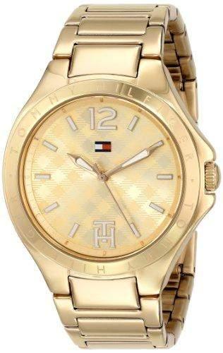 Tommy Hilfiger Damen 1781385 Analog Display Quartz Gold Armbanduhr