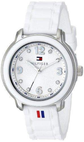 Tommy Hilfiger Damen 1781418 Crystal-Accented Stainless Steel Armbanduhr
