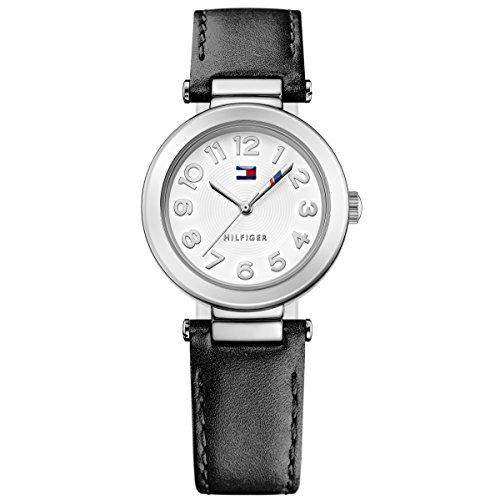 Tommy Hilfiger 1781493 HOLLY Uhr Damenuhr Lederarmband Edelstahl 30m Analog weiss schwarz