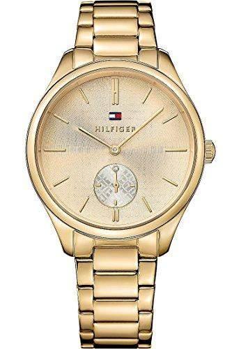 Tommy Hilfiger Damen-Armbanduhr Analog Quarz Edelstahl beschichtet 1781578