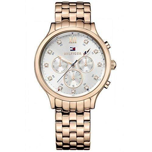Tommy Hilfiger Damen-Armbanduhr Analog Quarz Edelstahl beschichtet 1781611