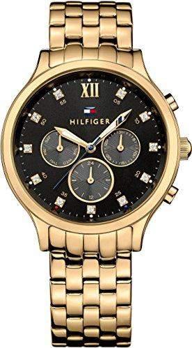 Tommy Hilfiger Damen-Armbanduhr Analog Quarz Edelstahl beschichtet 1781612