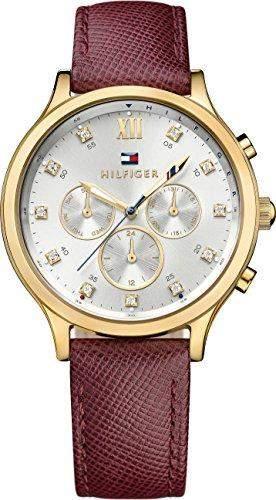 Tommy Hilfiger Damen-Armbanduhr Analog Quarz Leder 1781614
