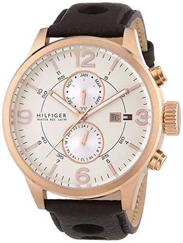 Tommy Hilfiger Herren-Armbanduhr Chronograph Quarz Leder 1790900