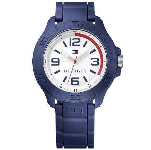 Tommy Hilfiger 1790941 Uhr Herren Uhr Kautschuk Kunststoff 30m blau UVP 119,-