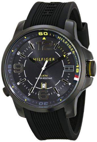 Tommy Hilfiger Herren 1791008 Analog Display Quartz Black Armbanduhr