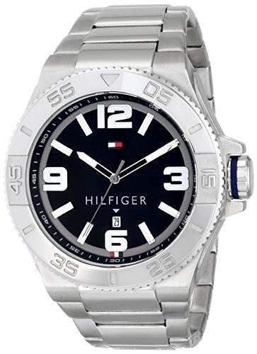 Tommy Hilfiger Herren 1791038 Analog Display Quartz Silver Armbanduhr