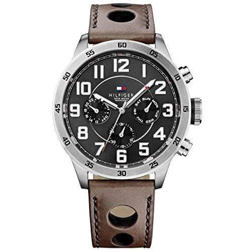 Tommy Hilfiger Herren-Armbanduhr Analog Quarz Leder 1791049