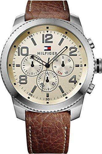 Tommy Hilfiger Herren-Armbanduhr Analog Quarz Leder 1791107