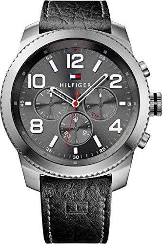 Tommy Hilfiger Herren-Armbanduhr Analog Quarz Leder 1791110