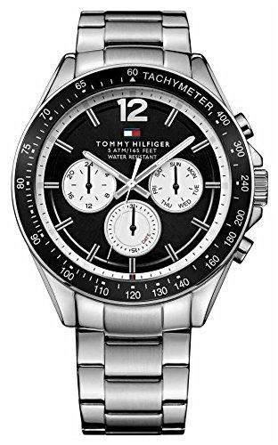 Tommy Hilfiger 1791120 LUKE Uhr Herrenuhr Edelstahl 50m Analog Datum schwarz