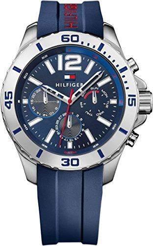 Tommy Hilfiger Herren-Armbanduhr Analog Quarz Silikon 1791142