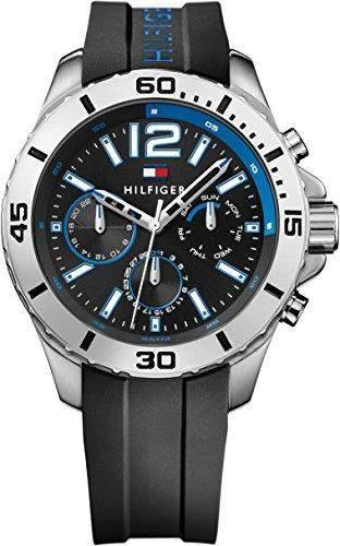 Tommy Hilfiger Herren-Armbanduhr Analog Quarz Silikon 1791143