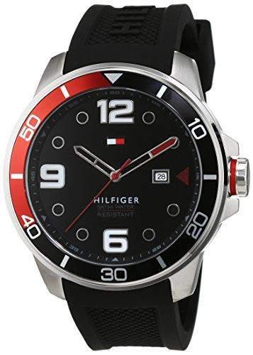 Tommy Hilfiger Herren-Armbanduhr Analog Quarz Silikon 1791153
