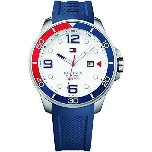 Tommy Hilfiger Herren-Armbanduhr Analog Quarz Silikon 1791155