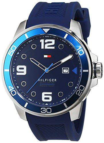 Tommy Hilfiger Herren-Armbanduhr Analog Quarz Silikon 1791156