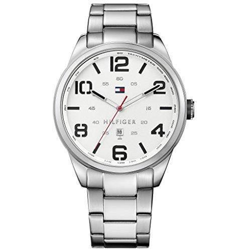 Tommy Hilfiger 1791159 CONNER Uhr Herrenuhr Edelstahl 30m Analog Datum weiss