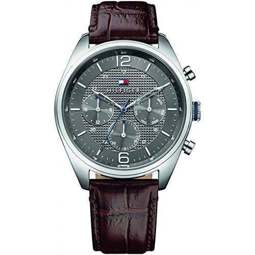 Tommy Hilfiger 1791184 CORBIN Uhr Herrenuhr Lederarmband Edelstahl 50m Analog Datum braun