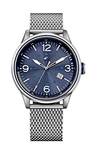 Tommy Hilfiger Herren Armbanduhr Analog Quarz Silber 1791106