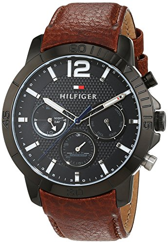 Tommy Hilfiger Herren Armbanduhr Sophisticated Sport Analog Quarz Leder 1791269