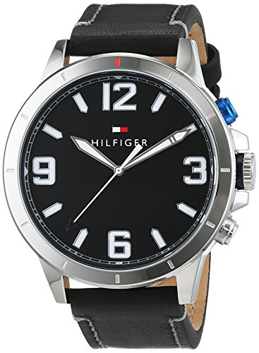 Tommy Hilfiger Herren Smartwatch Casual Sport Analog Digital Quarz Leder 1791298