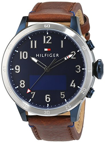 Tommy Hilfiger Herren Smartwatch Casual Sport Analog Digital Quarz Leder 1791300